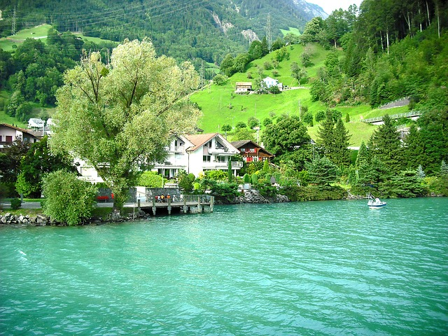 Free house switzerland swiss landscape scenery town