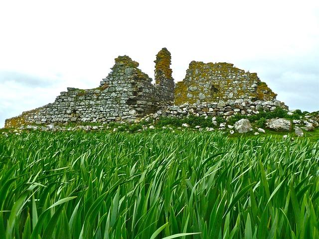 Free ruins grass ruin ancient historic ancient ruins