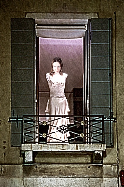 Free woman spirit vampire creepy ghost balcony