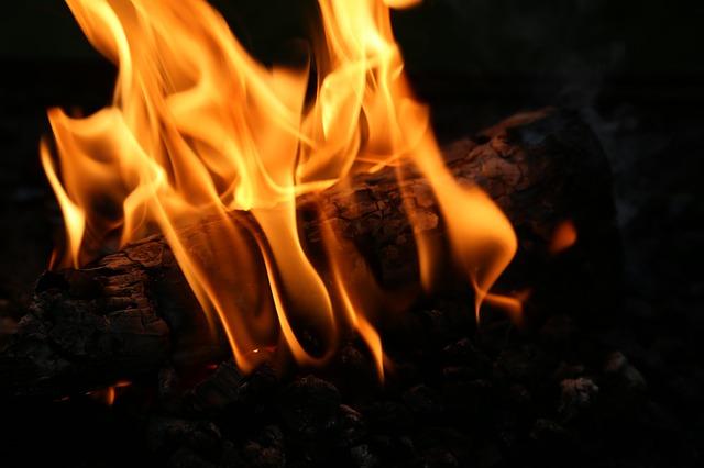 Free fireplace fire wood burn blaze wood fire embers
