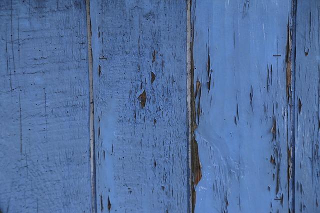 Free wood fence blue boards board border wooden wall