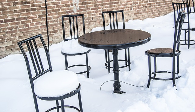 Free snow table chair white day winter colorado cold