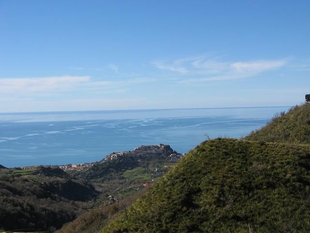 Free sea sky belvedere blue summer hills landscape