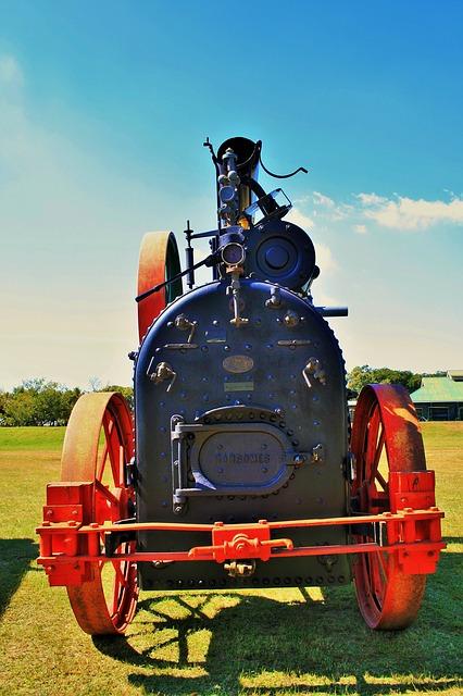 Free steam engine engine steam black red mobile power
