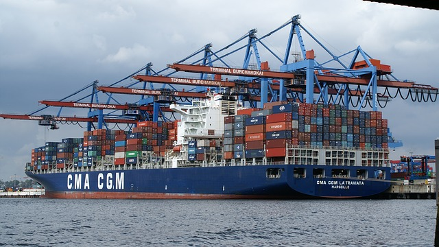Free hamburg port container ship terminal burchardkai