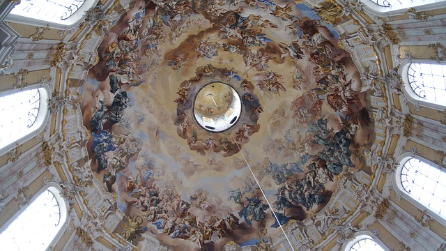Free bavaria ettal monastery church dome baroque