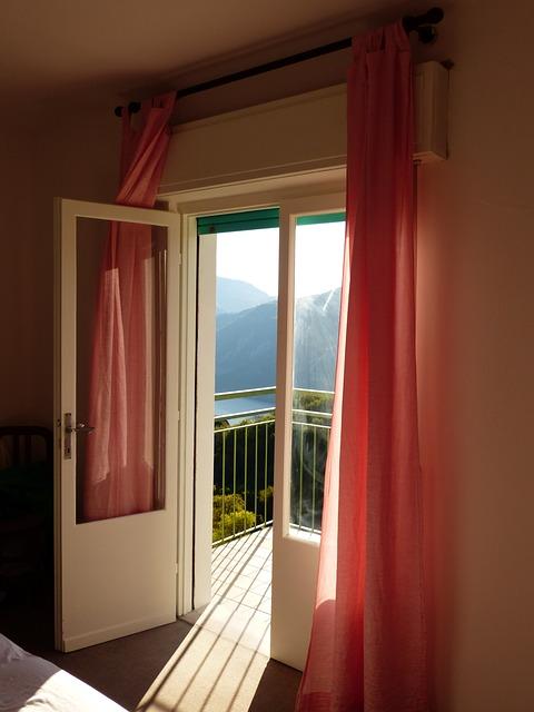 Free bedroom balcony door outlook interior apartment