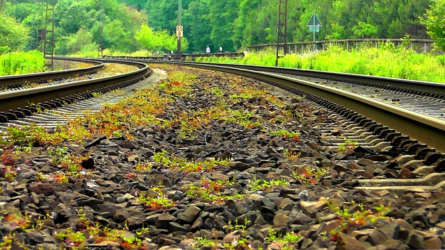 Free gleise railway rails track seemed parallel