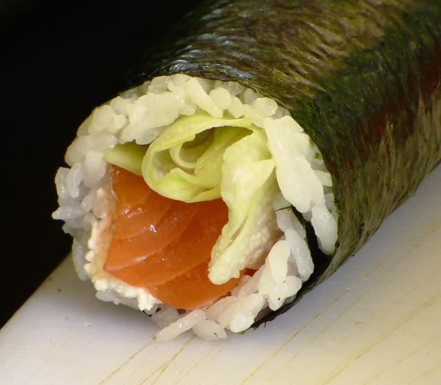 Free eating sushi food health rice sesame algae