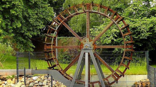 Free waterwheel mill mill wheel water turn wheel