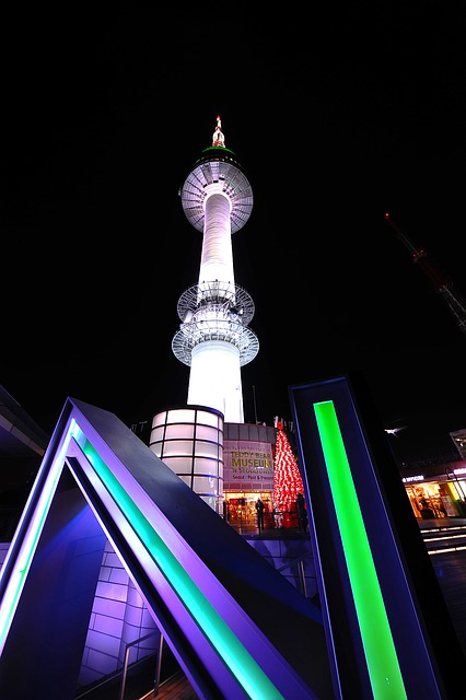 Free namsan tower night view