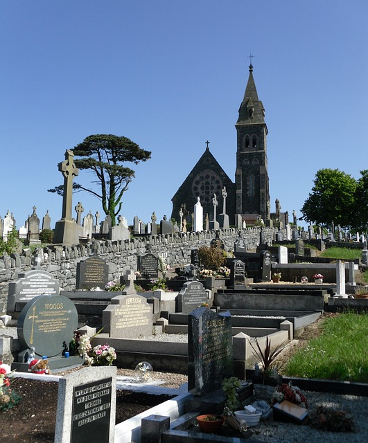 Free church graveyard cemetery ballycran