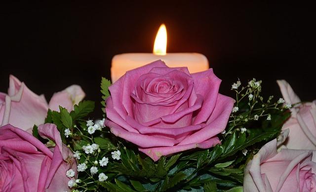 Free candles flame christmas arrangement decoration