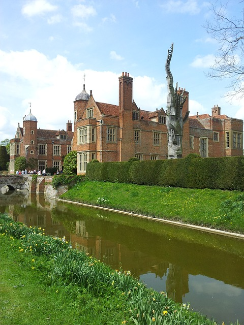 Free kentwell hall mansion stately home moat structure