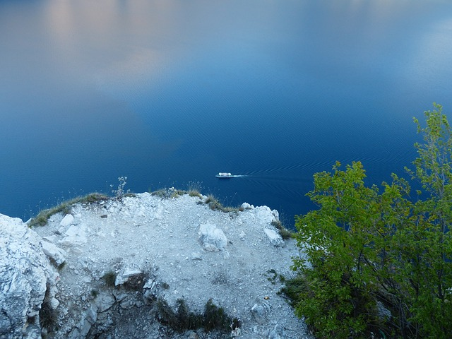 Free ferry ship garda from above viewpoint bocca larici