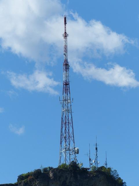 Free transmission tower radio mast monte brione garda