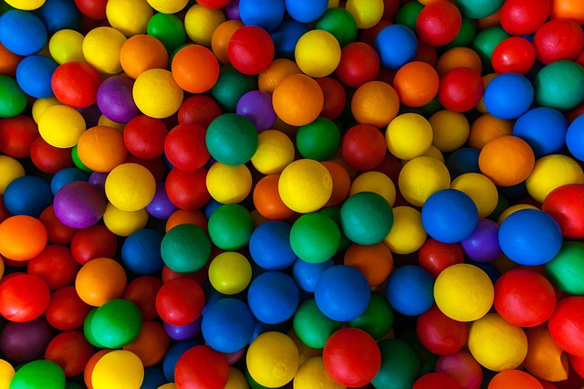 Free ball colorful play pattern background many mixed