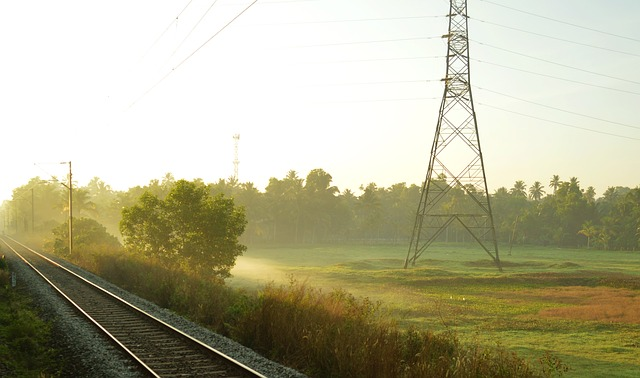 Free train railway landscape light transport trip