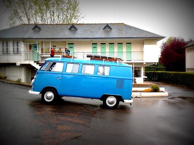 Free volswagen blue retro