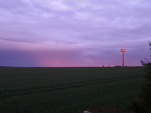 Free radio tower tower sunset afterglow sky twilight