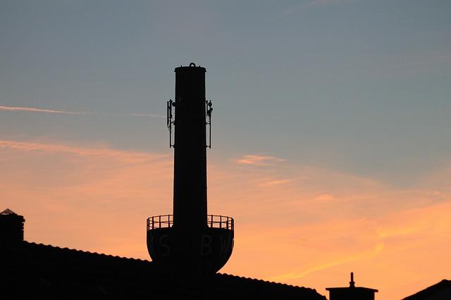 Free chimney sunset abendstimmung