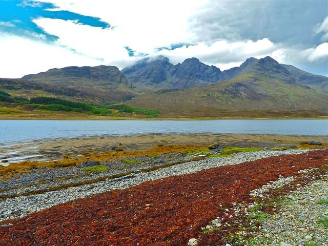 Free skye blue skye mountain background view landscape