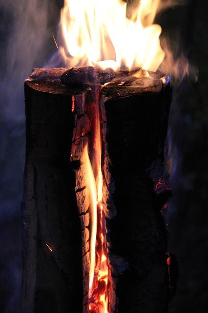 Free finn candle fire flame embers wood wood fire