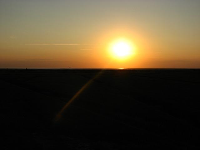 Free sunset sun sea evening sky abendstimmung beach