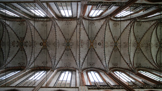 Free lübeck st mary's church gothic architecture vault