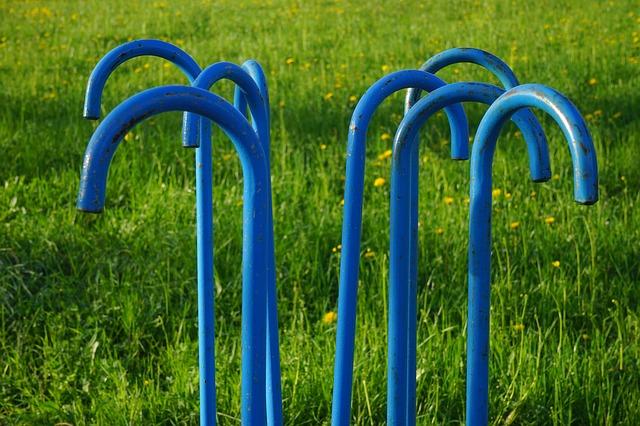 Free walking sticks blue art artwork metal