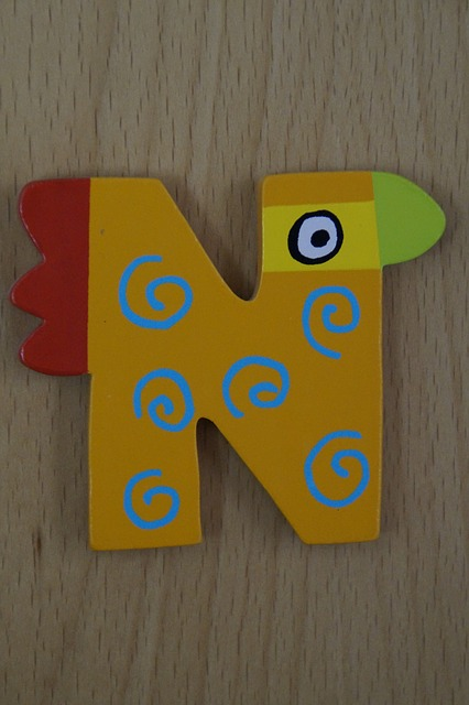 Free letter n abc colorful child children