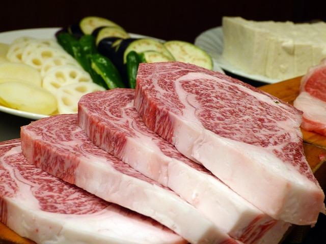 Free meat beef kobe beef raw vegetables food japanese
