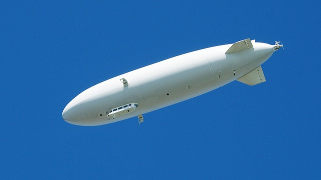 Free zeppelin airship white sky drive fly