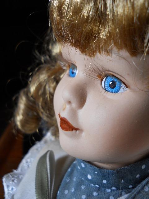 Free doll face portrait children vintage children