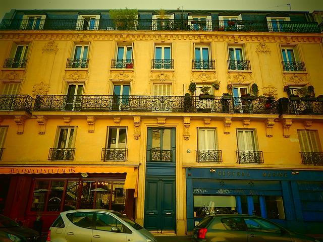 Free paris france city building home facade