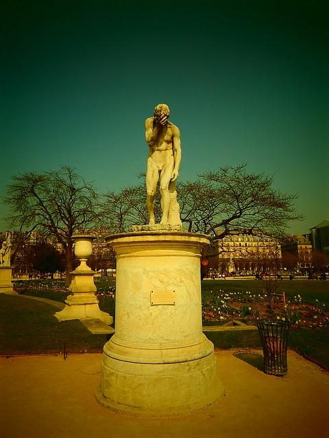 Free paris statue france park