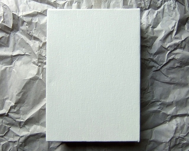 Free creative blank canvas artist wrinkled paper shape