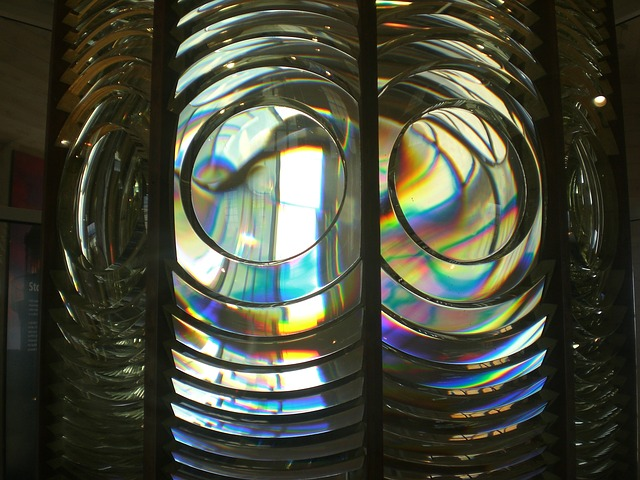 Free fresnel lens light house nautical