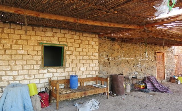 Free nomadic village desert clutter a mess jumble mess