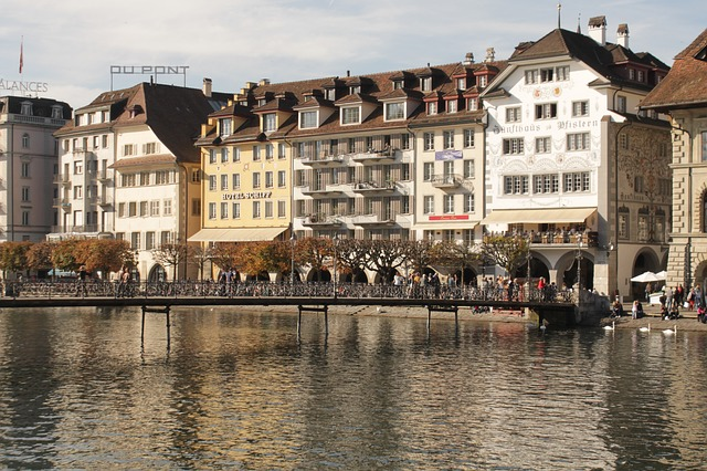 Free switzerland lucerne bridge lake