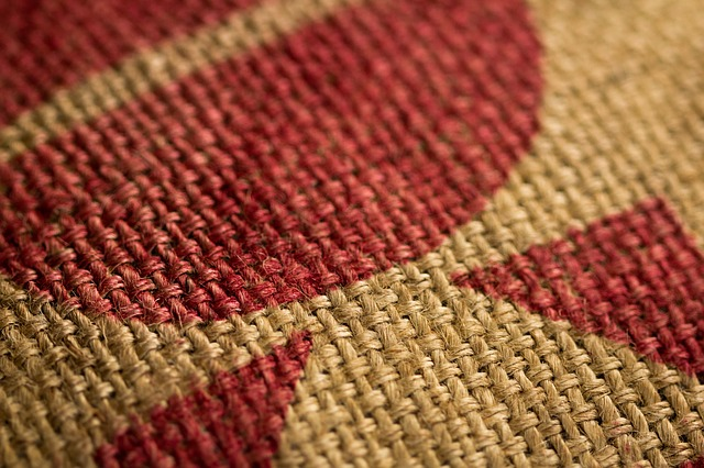 Free burlap coffee sack close up tan red