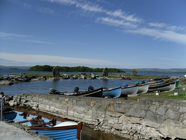 Free ireland county galway water lake boats scenic