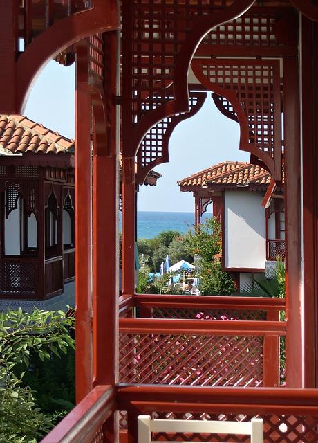 Free balcony sea vacation house building