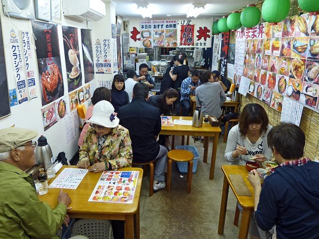 Free japan restaurant food sashimi delicious eating