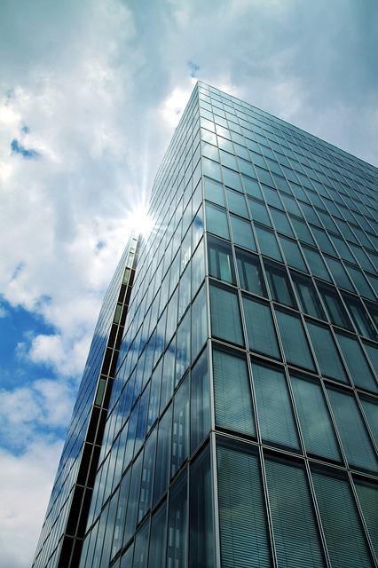 Free skyscraper modern building modern high rise building