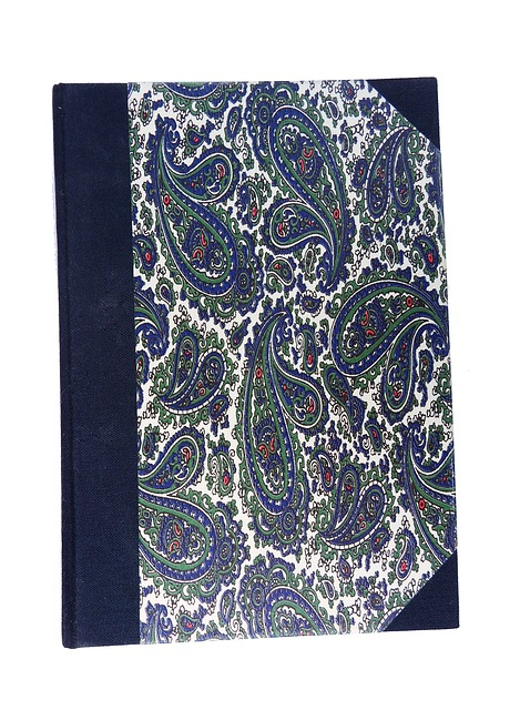 Free notebook diary retired blue corners