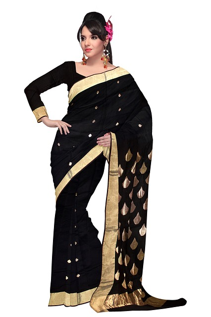 Free saree fashion silk dress woman model clothing