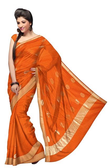 Free saree fashion silk dress woman model clothing