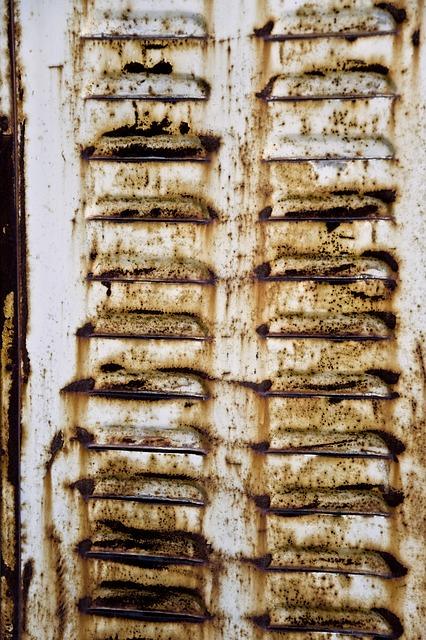 Free windows shutters outside old rusty metal