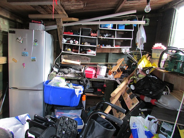 Free clutter mess garden shed workshop shed collected